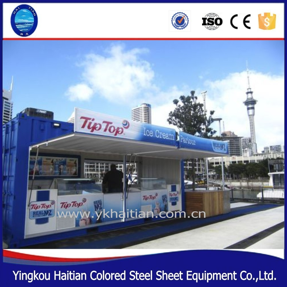 Prefab restaurant barbershop mini shipping container shop prefabricated restaurant container design for sale