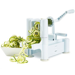 Manual Spiral Vegetable Slicer Tri-Blade Spiral Vegetable Slicer Tri-Blade Plastic Spiral Vegetable Slicer Cutter