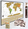 Deluxe Wordsworth & Black World Map To Scratch Off Premium Personalized World Map