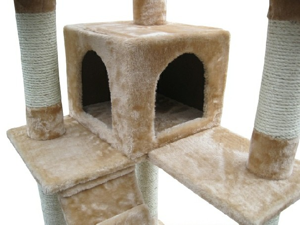 Cheap natural sisal wooden cat tree
