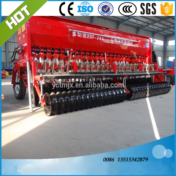 Farm automatic wheat small tractor seeder,24 rows wheat seeder drill