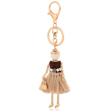 Wholesale tassel bag charm doll keychain knitted doll keyring voodoo doll keychain