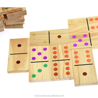 Colorful Domino Wooden Toy For Kids