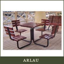 (TB55) Arlau Garden Table And Chairs,Solid Wood Square Dining Table,Kids Umbrella Table 2 Chairs