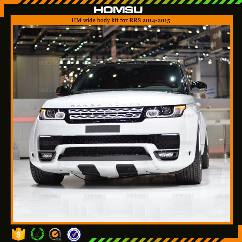 high quality the best front bumper car turning spare parts hammmann design for RRS rangerover sport body kit 2014-2015