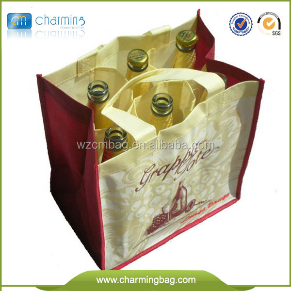 Fashion fancy wine bottle bags/6 bottle wine bag