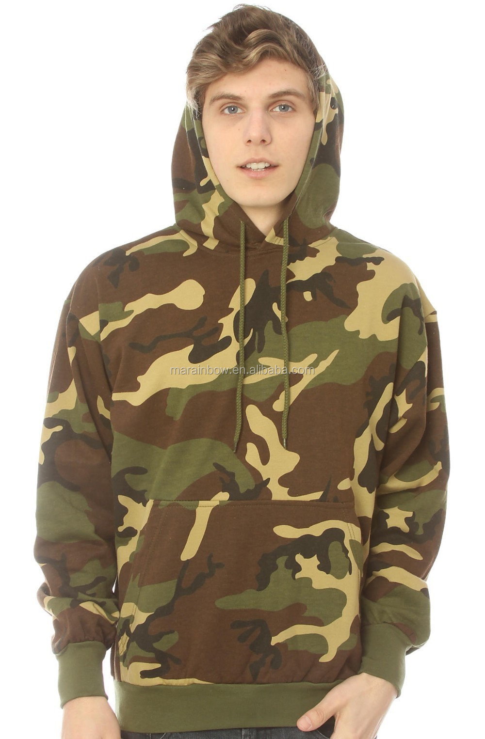 woodland winter men jacket camo hoodie relaxed fit polyester cotton fleece pullover hoodie wholesale custom woodland hoodies