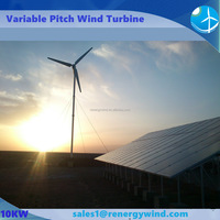 Residential green power wind turbine and solar panel generate electric to national grid