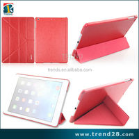 alibaba express china four folding leather flip case for ipad Air tablet