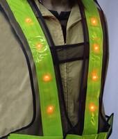 LED safety walking reflective vest, led reflective vest