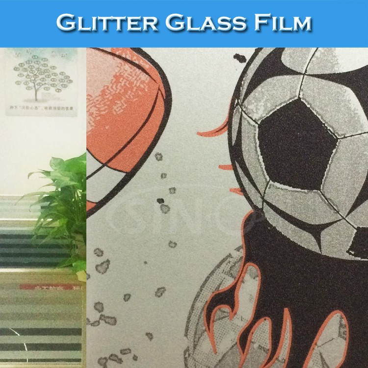 F004 Newest Window Glitter Frost Glass Decoration Films