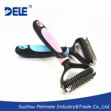 The best selling pet products plastic dematting dog brush