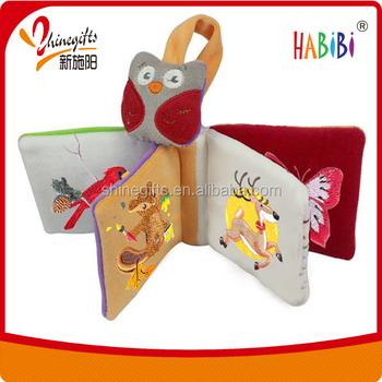 high quality elegant baby cloth book for infant