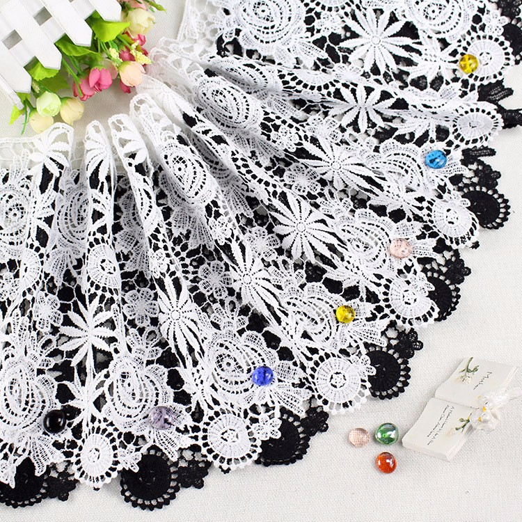 Top selling african water soluble chemical lace for Embroidery wedding clothes making