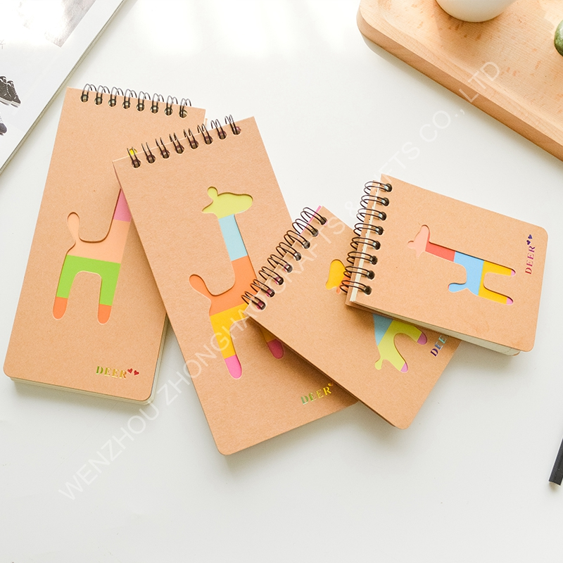 custom cheap kraft paper spiral mini notepad wholesale,ring binder note book, pocket notebook