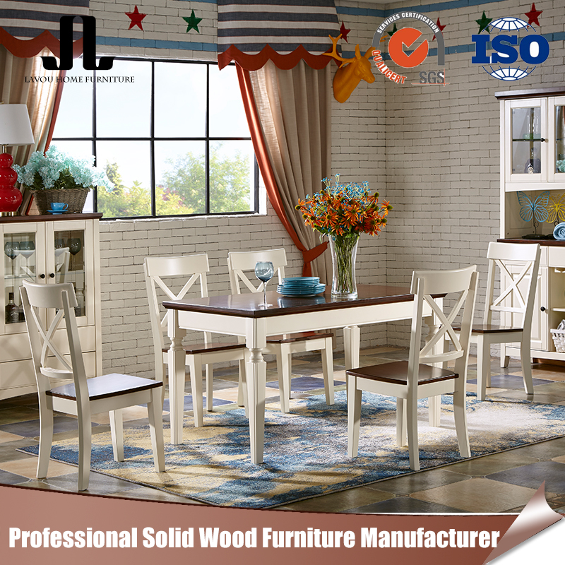 Chinese furniture dining table and chair solid wood dining table set