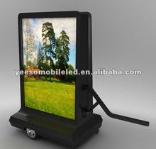 YES-M3 Mobile LED Scooter Advertising Vehicle,Rotating Light Box, Advertisng Scooter
