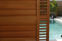 German Arched Shape Solid Wooden Plantation Shutters Louver 63 89 114mm slats