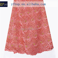 2015 new design fabric coral embroidered water soluble chemical guipure lace/ embroidery french guipure lace for wedding dresses