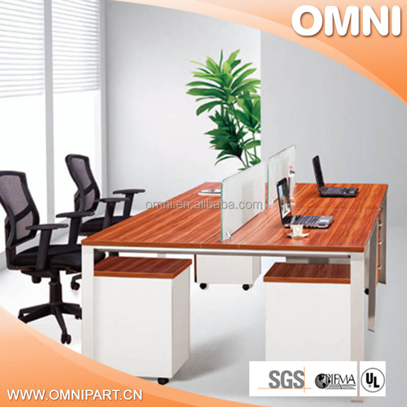 Simpleisthebest design wooden office table with metal legs