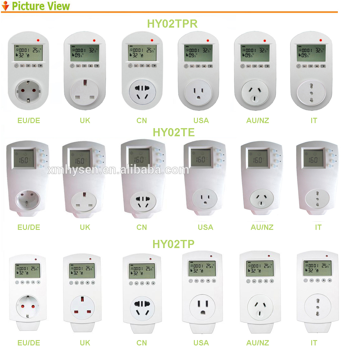 EU UK AU USA IT plug in home heating infrared heater panel thermostat Infrared mirror heating temperature switch thermostat
