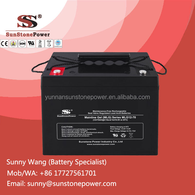 Deep Cycle Gel Solar Battery 12V 70AH With Best Price