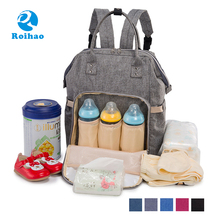 Roihao high quality organizer diaper backpacks baby mother bag
