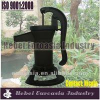 black color cast iron well pump/antique cast iron water pump