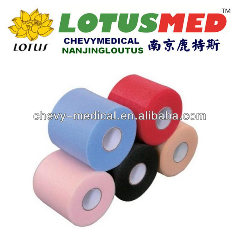 colorful sports underwrap pre tape wrap pu foam bandage
