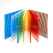 High lever 10 years warranty two wall polycarbonate multiwall sheets