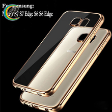 Luxury Silicon galaxy s7 edge cover S6 S6 edge cheap phone plating cases