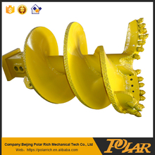Double-head single -spiral Rotary Drilling bucket