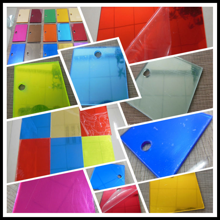 Colored acrylic mirror sheet wall mirror wholesales