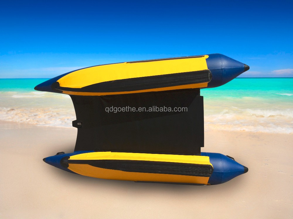 GTG335 fiberglass bow and stainless steel transom high speed inflatable Boat