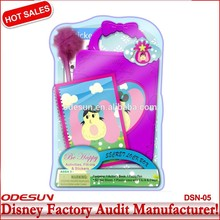 Disney Universal BSCI Carrefour Factory Audit Manufacturer Kungfu Panada Frozen lock box stationery set112