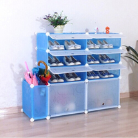 Perfact space saving shoe and boot rack assembled by panels and brackets (FH-AL01816-8 )