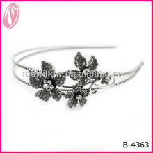Retro Style Rhinestone Embellished Flower Shape Hair Clamp Hair Headband