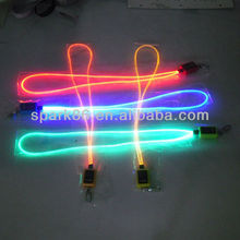 led optical fiber necklace lanyard,children toys,made in shenzhen china