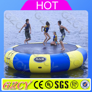 Lake inflatables water games/inflatable water trampoline/inflatable Entertainment floating island