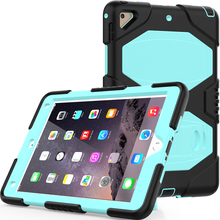 "Heavy duty shockproof pc silicon tablet kickstand case for Apple ipad 9.7"" 2017"