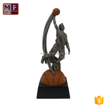 [Supper Supplier] Factory Price Wholesale Custom All Handmade Resin Basketball Trophy