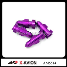 Aluminum purple colors car wheel tire valve caps