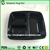 China manufacturer 1000ml 3 compartment PP food tray