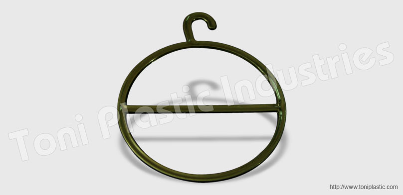 ROUND PLASTIC HANGER FOR SCARVES PACKAGING AND DISPLAY
