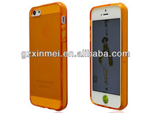 Hot selling For Apple iphone 5G 5S flip cover back skin pouch shinning color for iPhone