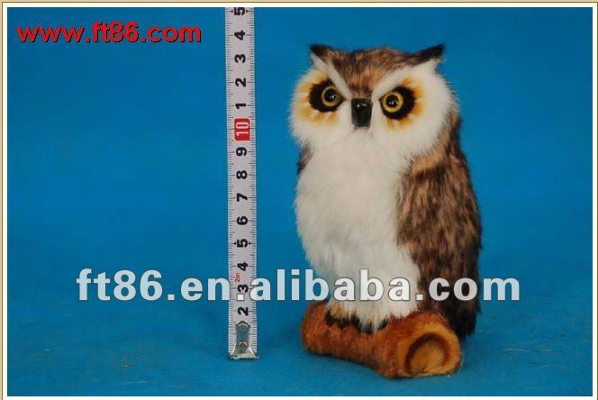 sythetic fur animal figurines,owl toy, owl replica