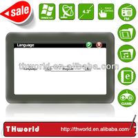 Shenzhen factory sale 4.3 inch Philippines map sat nav system with 128M DDR 4GB memory
