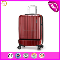 sincere sell Custom large capacity abs+pc laptop trolley luggage bag