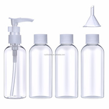 5 Pieces Travel Bottle Set and kit Cosmetic Liquid Containers with Storage Bag (80 ml)