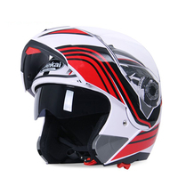 Safe Flip Up Super valuable Motorcycle Helmet With double lens Inner Sun Visor Multi size and color